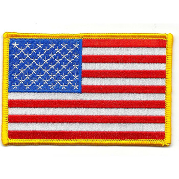 American Flag Gold Border Patch
