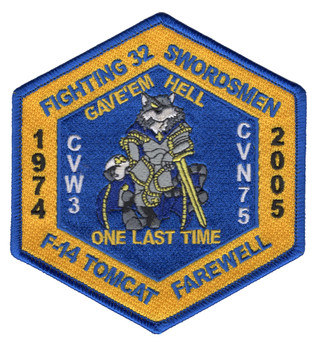 VF-32 Fighter Squadron 1974-2005 Patch