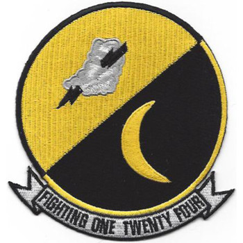 VF-124 Fighter Squadron One Twenty Four Patch - Version B