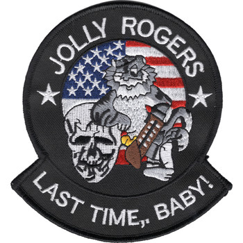 VF-103 Fighter Squadron Patch Jolly Rogers Last Time, Baby