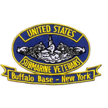 Veterans Submarine Base Buffalo New York Patch - Small Version