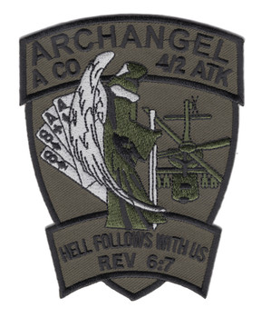 4th BN 2nd Attack Aviation Regiment A Company Air Cavalry OD Green Patch