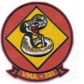 VMA-131 Scout Bombing Squadron Patch Diamondbacks