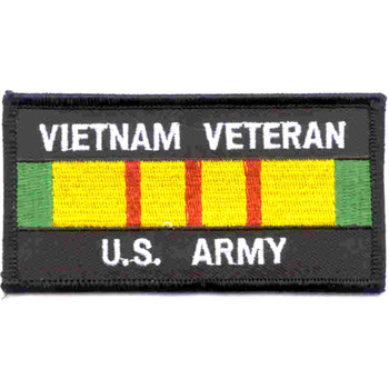 Vietnam Veteran Service Ribbon Army Patch