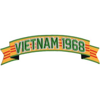 Vietnam 1968 Ribbon Jacket Back Patch