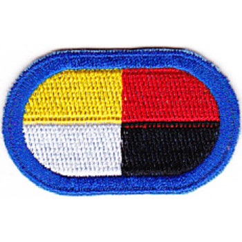 3rd Airborne Special Forces Group Patch Blue Oval