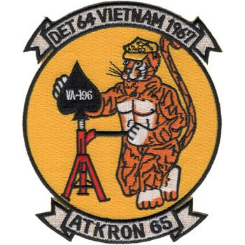 VA-65 DET-64 Vietnam 1967 Attack Squadron Patch