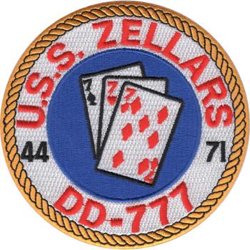 USS Zellars DD-777 Destroyer Ship Patch