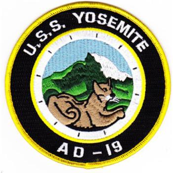 USS Yosemite AD-19 Destroyer Tender Patch