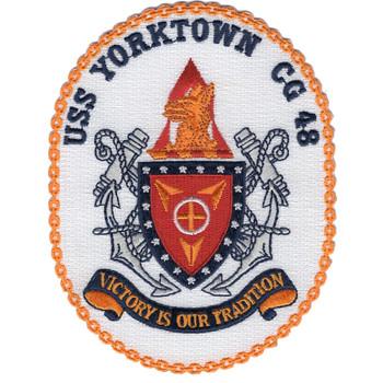 USS Yorktown CG-48 Crest Patch