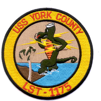 USS York County LST-1175 Tank Landing Ship Patch