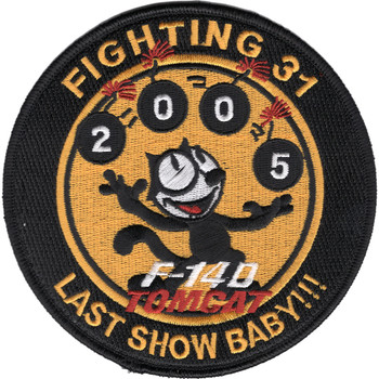 VF-31 Patch Tomcat Last Show Baby!!!