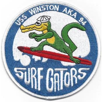 USS Winston AKA 94 Auxiliary Attack Cargo Ship Patch