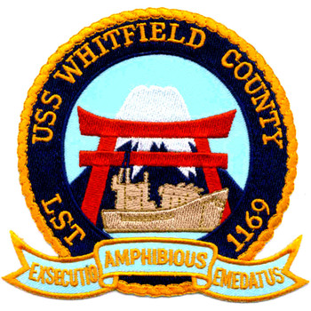 USS Whitfield County LST-1169 Patch