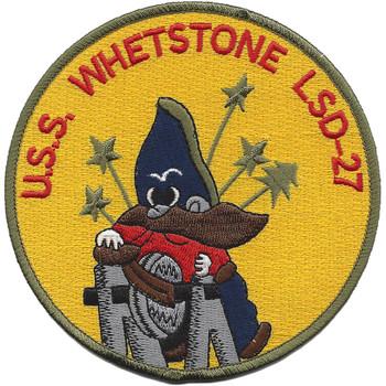 USS Whetstone LSD-27 Dock Landing Ship Patch