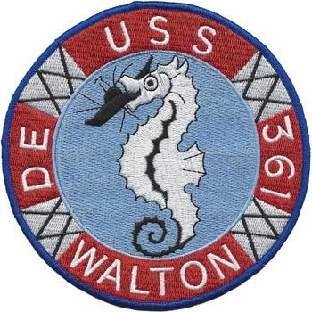USS Walton DE-361 Destroyer Escort Ship Patch