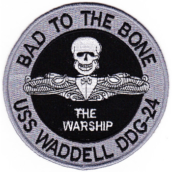 USS Waddell DDG-24 Patch Hook And Loop
