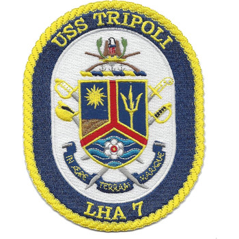 USS Tripoli LHA-7 Amphibious Assault Ship Patch