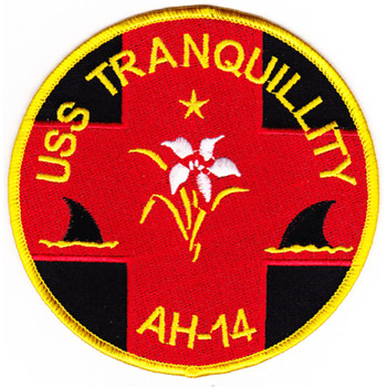 USS Tranquility AH-14 Hospital Ship Patch