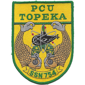 USS Topeka SSN-754 Attack Submarine PCU Patch