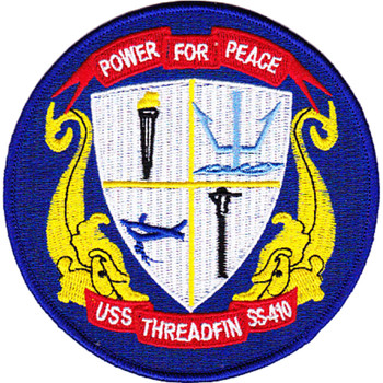 USS Threadfin SS-410 Power For Peace Patch