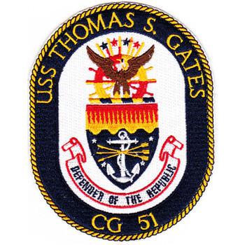 USS Thomas S Gates CG-51 Patch