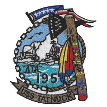 USS Tatnuck ATA-195 Auxiliary Fleet Tug Ship Patch