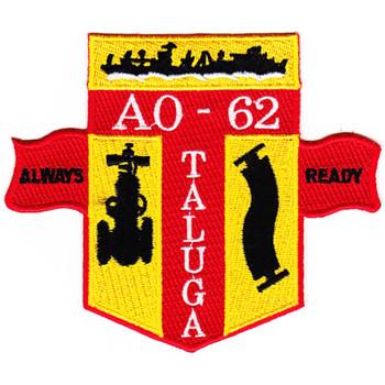 USS Taluga AO-62 Auxiliary Oiler Ship Patch