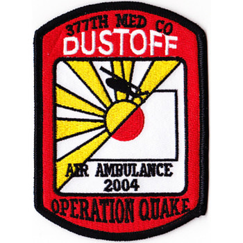 377th Aviation Medical Company Dustoff Patch 2004 Operation Quake