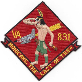 VA-831 Attack Reserve Squadron Eight Thirty One Patch