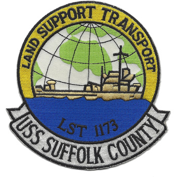 USS Suffolk County LST-1173 Landing Ship Tank Patch Patches