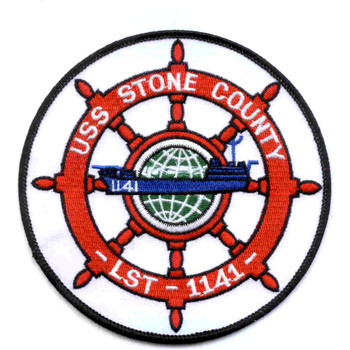 USS Stone Count LST-1141 Patch