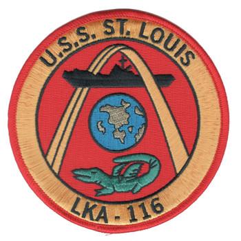 USS St. Louis LKA-116 Amphibious Cargo Ship Patch