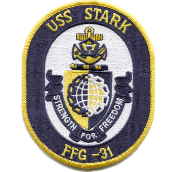 USS Stark FFG-31 Guided Missile Frigate Ship Patch