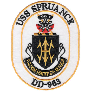USS Spruance DD-963 Destroyer Ship Patch