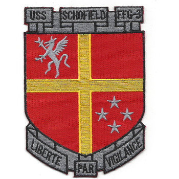 USS Schofield FFG-3 Guided Missile Frigate Ship Patch