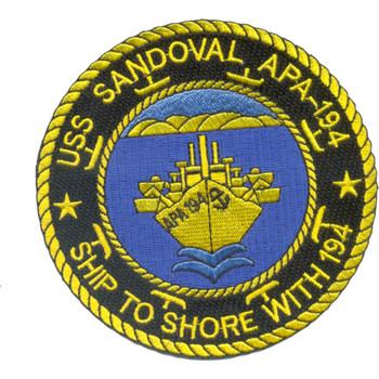 USS Sandoval APA-194 Patch