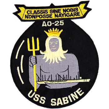 USS Sabine AO-25 Auxiliary Oiler Ship Patch