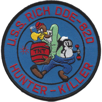 USS Rich DDE 820 Destroyer Ship Patch