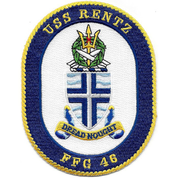USS Rentz FFG-46 Guided missile Frigate Ship Patch