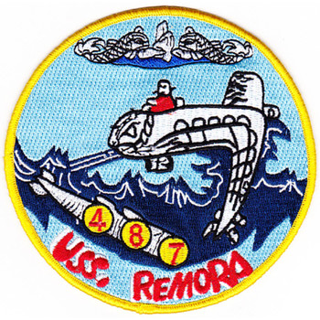 USS REMORA SS-487 Diesel Electric Submarine Patch