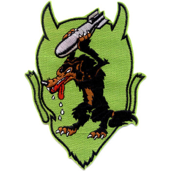 VB-84 Aviation Bombing Squadron Eighty Four Patch Devil Wolf Bomb