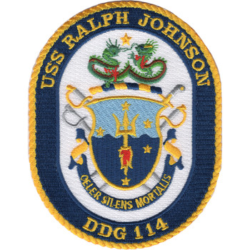 USS Ralph Johnson DDG 114 Missile Destroyer Ship MOH Patch