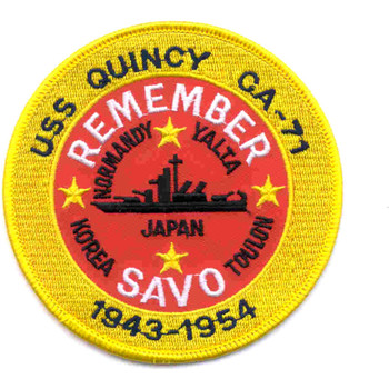 USS Quincy CA-71 Heavy Cruiser Patch