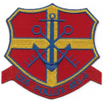 USS Pollux AKS-4 General Stores Issue Ship Patch