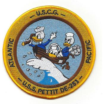 USS Pettit DE-253 USCG WWII Patch