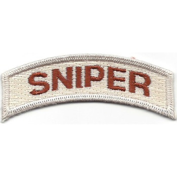 U.S. Special Forces Sniper Rocker Desert Patch