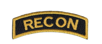 U.S. Special Forces Recon Rocker Black with Gold Patch
