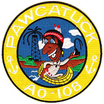 USS Pawcatuck AO 108 Auxiliary Oiler Ship Patch