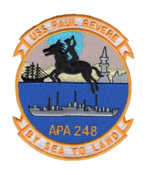 USS Paul Revere APA-248 Patch